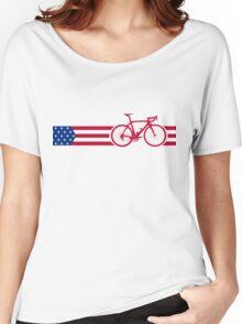 Bike Stripes USA v2 Women's Relaxed Fit T-Shirt