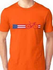 Bike Stripes USA v2 Unisex T-Shirt
