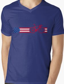 Bike Stripes USA v2 Mens V-Neck T-Shirt
