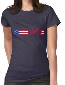 Bike Stripes USA v2 Womens Fitted T-Shirt
