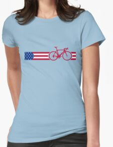 Bike Stripes USA v2 Womens Fitted T-Shirt