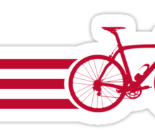 Bike Stripes USA v2 Sticker