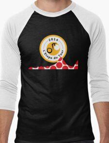 Red Polka Dot 2014 L'Etape du Tour Mountain Profile v2 Men's Baseball ¾ T-Shirt