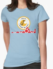 Red Polka Dot 2014 L'Etape du Tour Mountain Profile v2 Womens Fitted T-Shirt