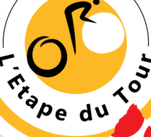 Red Polka Dot 2014 L'Etape du Tour Mountain Profile v2 Sticker
