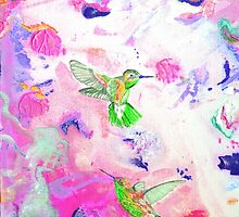 Humming birds by Sandy Maya Matzen