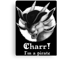 Charr I'm a pirate GW2 Canvas Print
