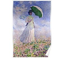 Claude Monet - Woman With A Parasol Turned To The Right 1886  Poster