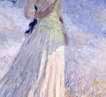 Claude Monet - Woman With A Parasol Turned To The Right 1886  Sticker