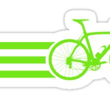 Bike Stripes Green Sticker