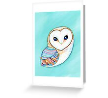 Tribal Pattern Barn Owl Greeting Card