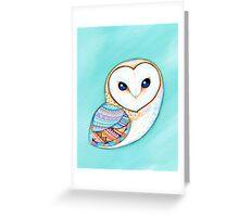 Tribal Pattern Barn Owl Greeting Card