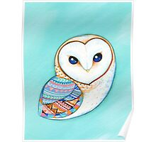 Tribal Pattern Barn Owl Poster