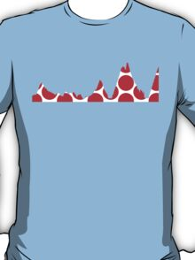 Red Polka Dot Mountain Profile T-Shirt