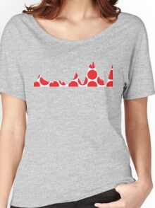 Red Polka Dot Mountain Profile Women's Relaxed Fit T-Shirt