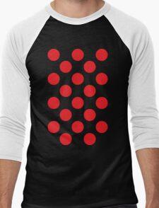 Red Polka Dot (King of the Mountains) Men's Baseball ¾ T-Shirt
