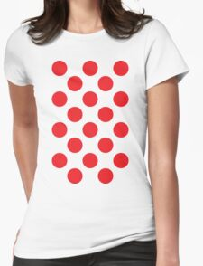 Red Polka Dot (King of the Mountains) Womens Fitted T-Shirt