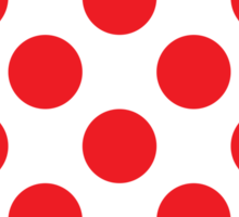 Red Polka Dot (King of the Mountains) Sticker