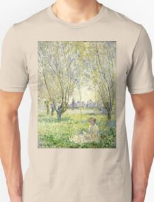 Claude Monet - Woman Seated Under The Willows 1880  Unisex T-Shirt