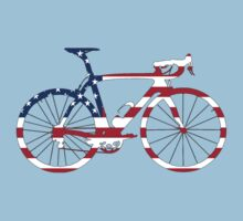 Bike Flag USA (Big) T-Shirt