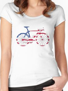 Bike Flag USA (Big) Women's Fitted Scoop T-Shirt
