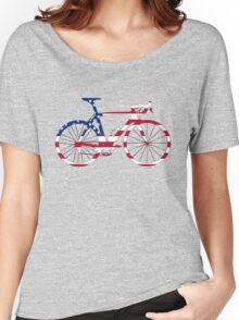 Bike Flag USA (Big) Women's Relaxed Fit T-Shirt