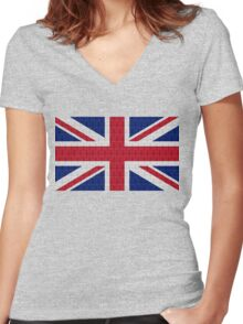 Sherlock Wallpaper Jack Women's Fitted V-Neck T-Shirt