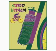 """GIRO D ITALIA BICYCLE"" Racing Advertising Print One Piece - Short Sleeve"