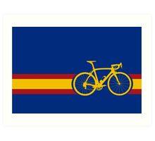 Bike Stripes Spanish National Road Race Art Print