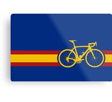 Bike Stripes Spanish National Road Race Metal Print