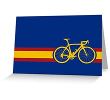 Bike Stripes Spanish National Road Race Greeting Card