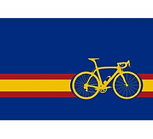 Bike Stripes Spanish National Road Race Photographic Print