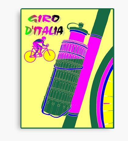 """GIRO D ITALIA BICYCLE"" Racing Advertising Print Canvas Print"