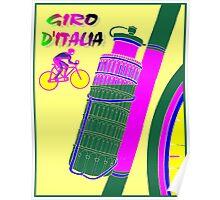 """GIRO D ITALIA BICYCLE"" Racing Advertising Print Poster"