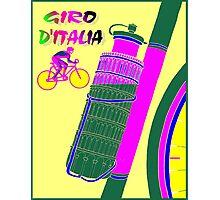 """GIRO D ITALIA BICYCLE"" Racing Advertising Print Photographic Print"