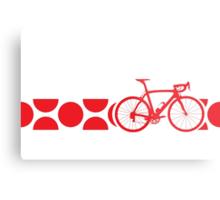 Bike Stripes King of the Mountains (Red) Metal Print