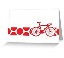 Bike Stripes King of the Mountains (Red) Greeting Card