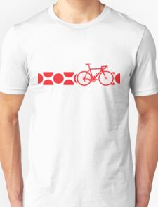 Bike Stripes King of the Mountains (Red) T-Shirt