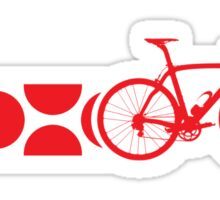Bike Stripes King of the Mountains (Red) Sticker