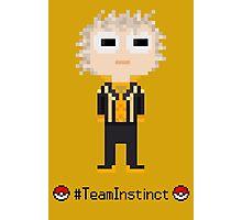 Team Instinct leader Spark, Pixel Art Photographic Print