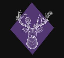 Purple/White Geometric Stag Unisex T-Shirt