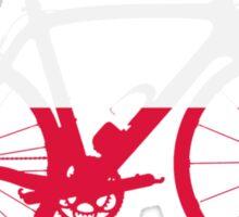 Bike Flag Poland (Big) Sticker