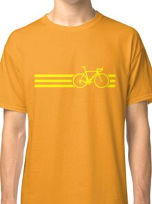 Bike Stripes Yellow Classic T-Shirt