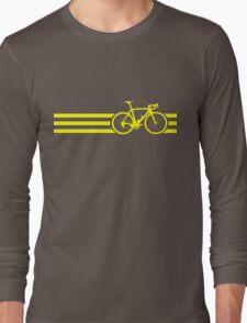 Bike Stripes Yellow Long Sleeve T-Shirt