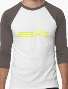 Bike Stripes Yellow Men's Baseball ¾ T-Shirt