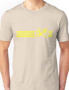 Bike Stripes Yellow Unisex T-Shirt