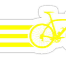 Bike Stripes Yellow Sticker