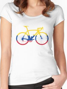 Bike Flag Colombia (Big) Women's Fitted Scoop T-Shirt