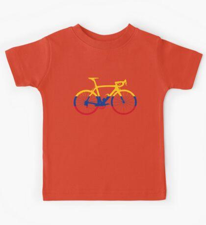 Bike Flag Colombia (Big) Kids Tee