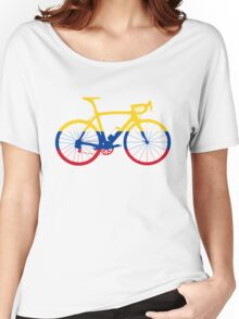 Bike Flag Colombia (Big) Women's Relaxed Fit T-Shirt